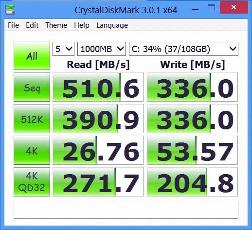 Samsung Ativ Tab7-CristalDiskMark