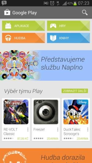 Google play music smartfon