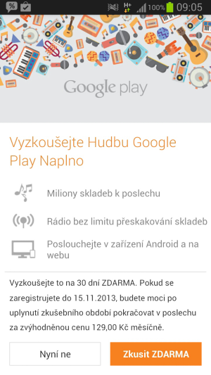 Google play music smartfon3