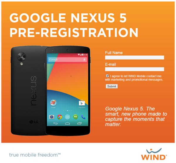 Nexus 5 predregistracia