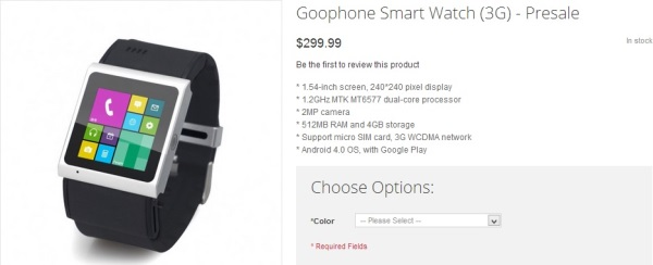 Goophone smartwatch - obchod