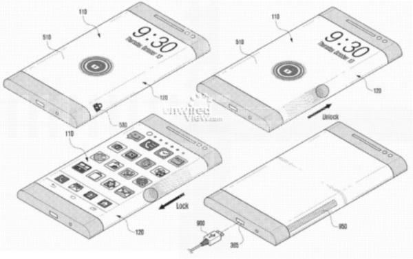 Samsung-ohnuty-displej