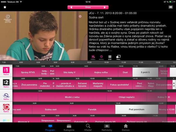 Telekom_Magio_Android_nove rozhranie s epg