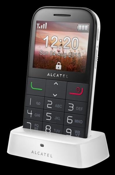 Alcatel 2000 Pure White with cradle