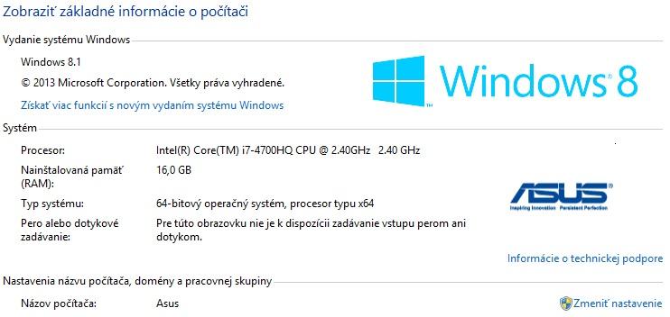 Info o PC