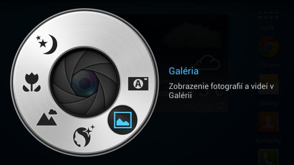Samsung Galaxy S4 Zoom - rychle menu fotoaparatu