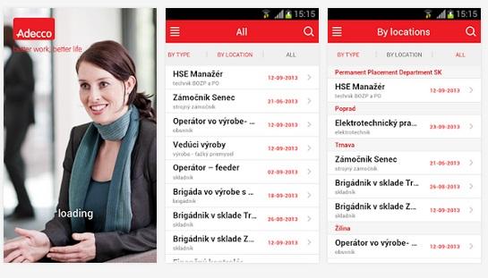 Adecco jobs in Slovakia App