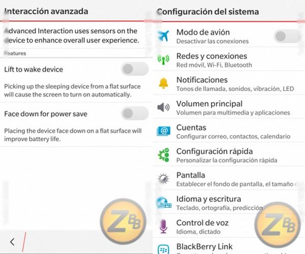 BlackBerry OS 10.3-5