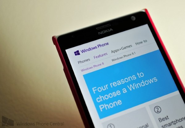 Windows Phone 8.1 web