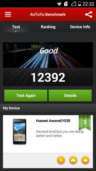 Huawei Acsend Y530-AnTuTu2