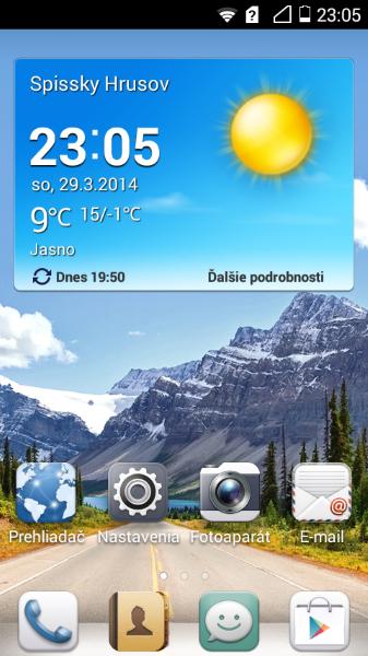 Huawei Acsend Y530-Domaca obrazovka
