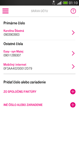 aplikacia telekom multiucet