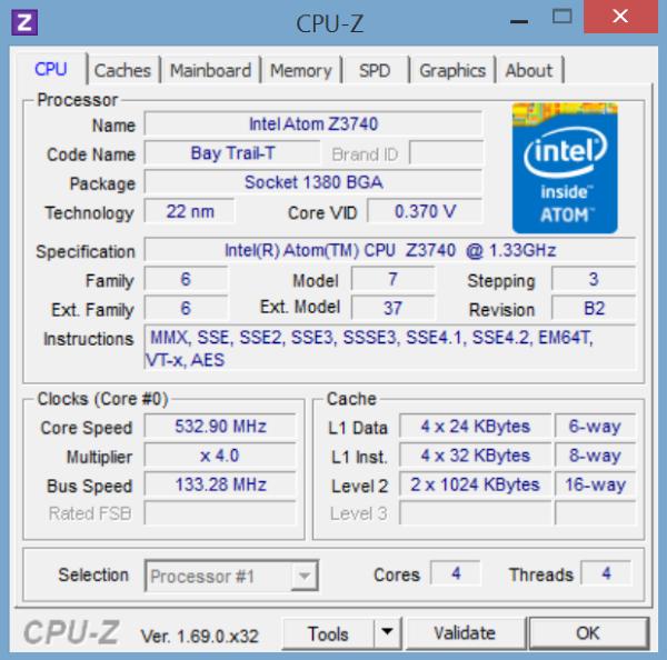Lenovo Miix 2-CPU Z