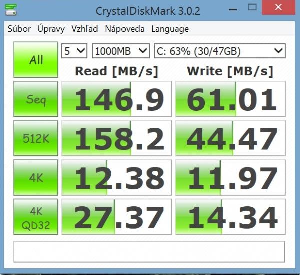 Lenovo Miix 2-CrystalDiskMark