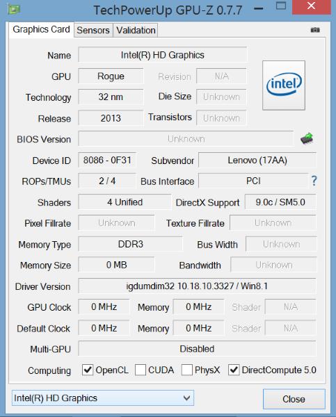 Lenovo Miix 2-GPU Z