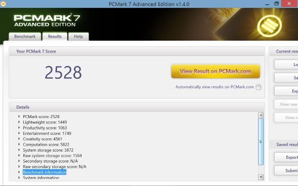 Lenovo Miix 2-PCMark7
