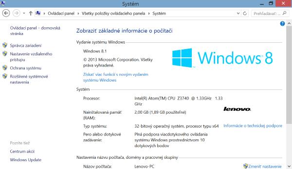 Lenovo Miix 2-zakladne informacie