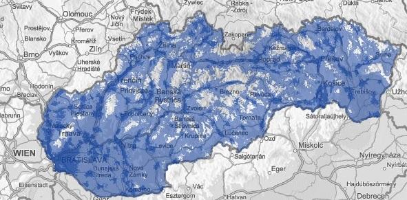 O2 mapa pokrytia