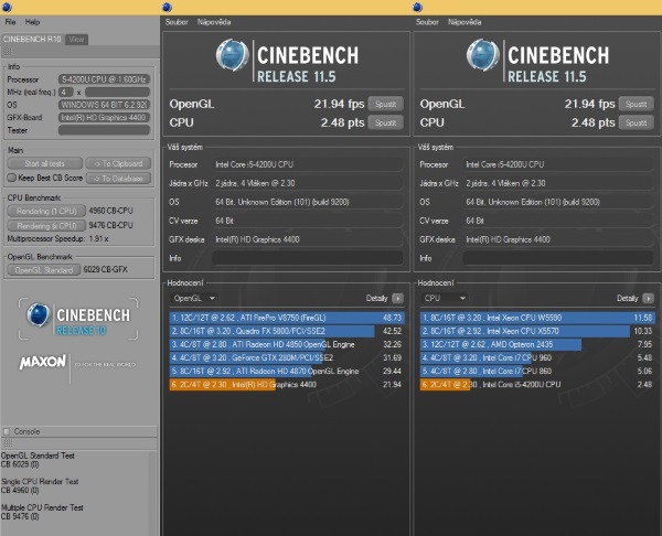 ASUS AiO ET2321INTH-Cinebench R10