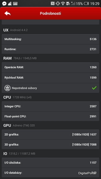 HTC One Max Antutu Benchmark II
