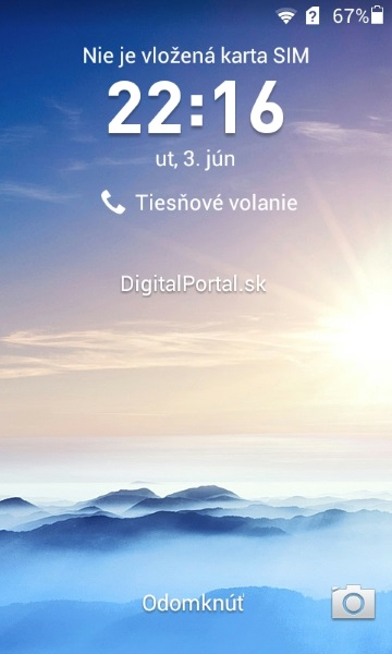 Huawei Ascend Y330-Lock screen