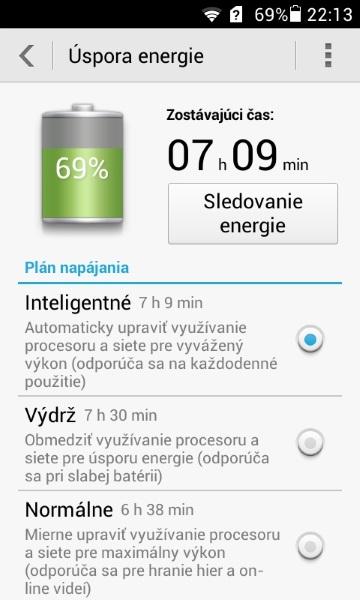 Huawei Ascend Y330-Setrenie energie