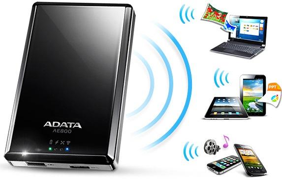 ADATA Air AE800 Wireless HDD & Power bank XI
