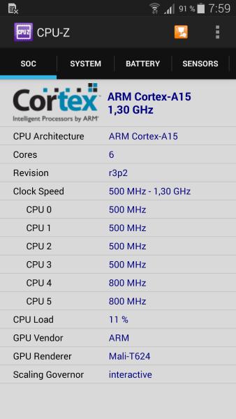 Samsung K Zoom - CPU-Z