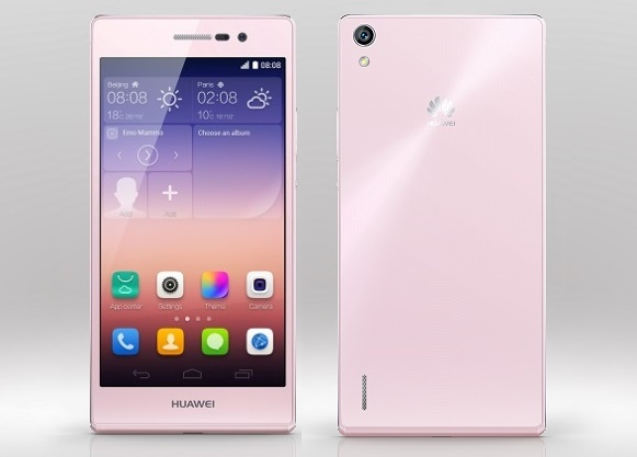 Huawei Ascend P7 Pink 01