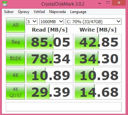 Lenovo Miix 2 10 CrystalDiskMark