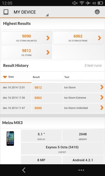 Meizu MX3 3D Mark 01