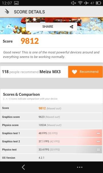 Meizu MX3 3D Mark 08