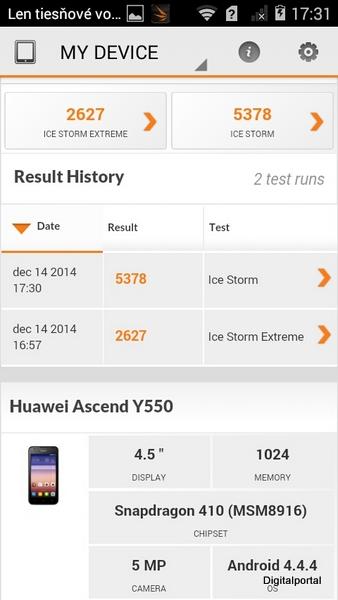 Huawei Y550 3D Mark 01