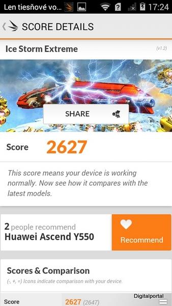Huawei Y550 3D Mark 03
