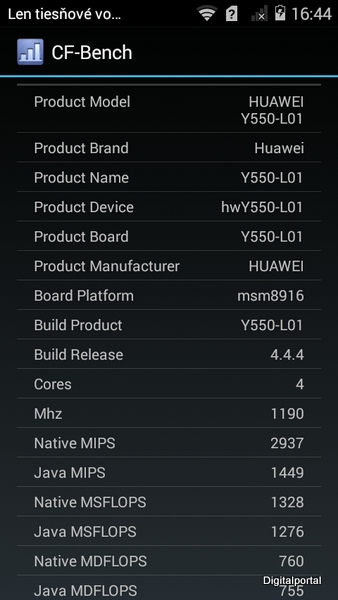 Huawei Y550 CF Benchmark 01