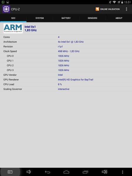 Allview Viva i10G CPU-Z