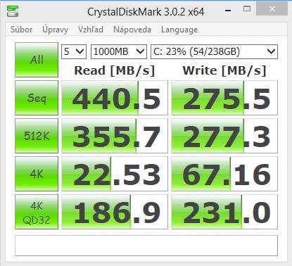 HP Compaq Elite 8300 AiO CrystalDiskMark