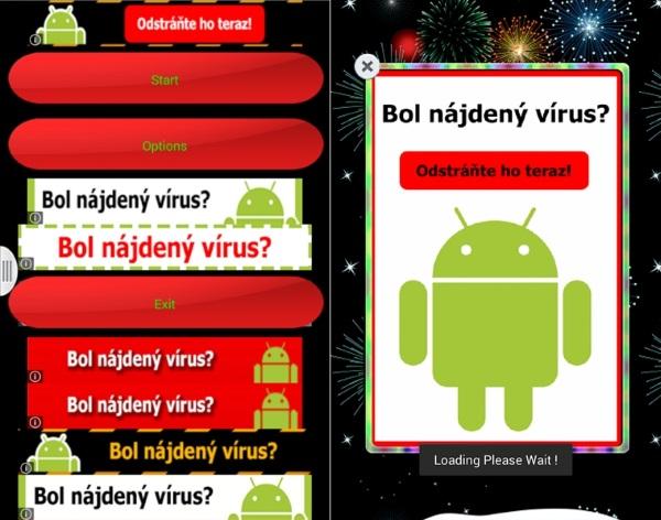 ESET screen Bol najdeny virus