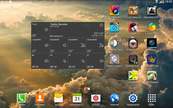 screenshot ukážka aplikácii