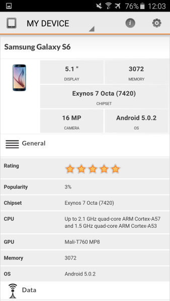 Samsung Galaxy S6 3D Mark 02