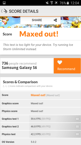 Samsung Galaxy S6 3D Mark 07