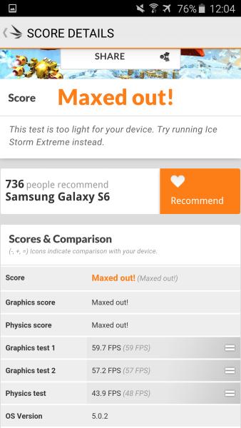 Samsung Galaxy S6 3D Mark 08