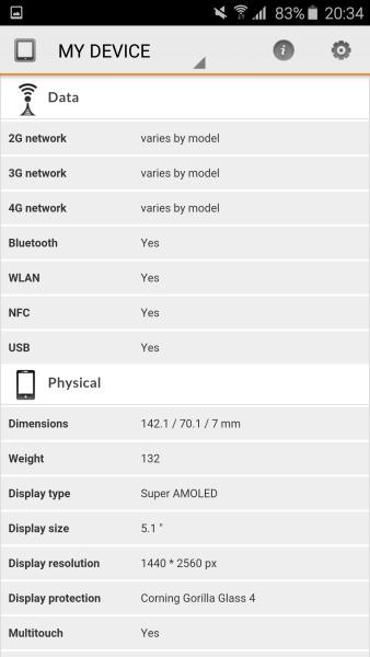 Samsung Galaxy S6 Edge 3D Mark 03