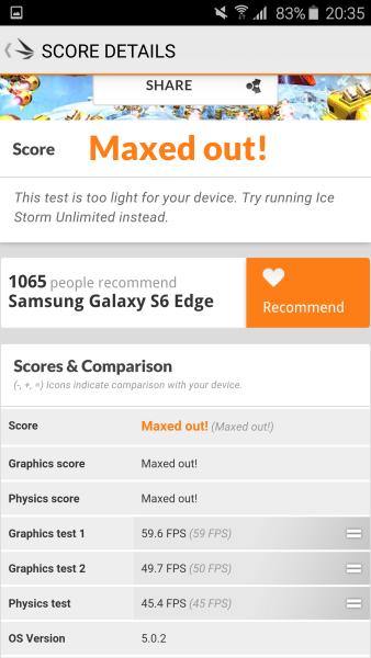 Samsung Galaxy S6 Edge 3D Mark 07