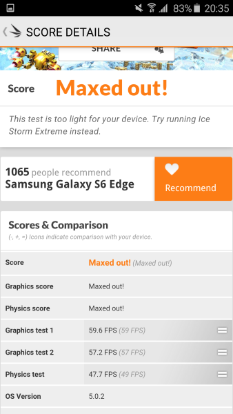 Samsung Galaxy S6 Edge 3D Mark 08