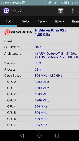 Honor 6 Plus CPU-Z