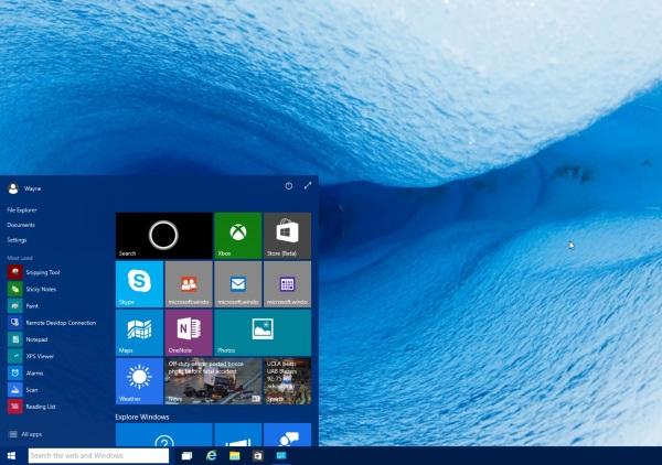 Windows 10 Plocha
