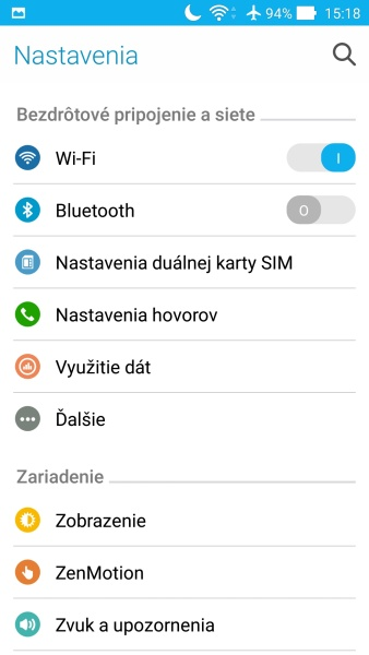 ASUS ZenFone 2 Prostredie OS 05