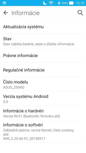 ASUS ZenFone 2 Prostredie OS 07