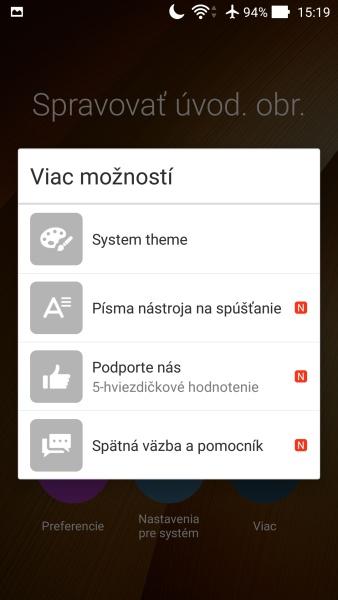 ASUS ZenFone 2 Prostredie OS 10